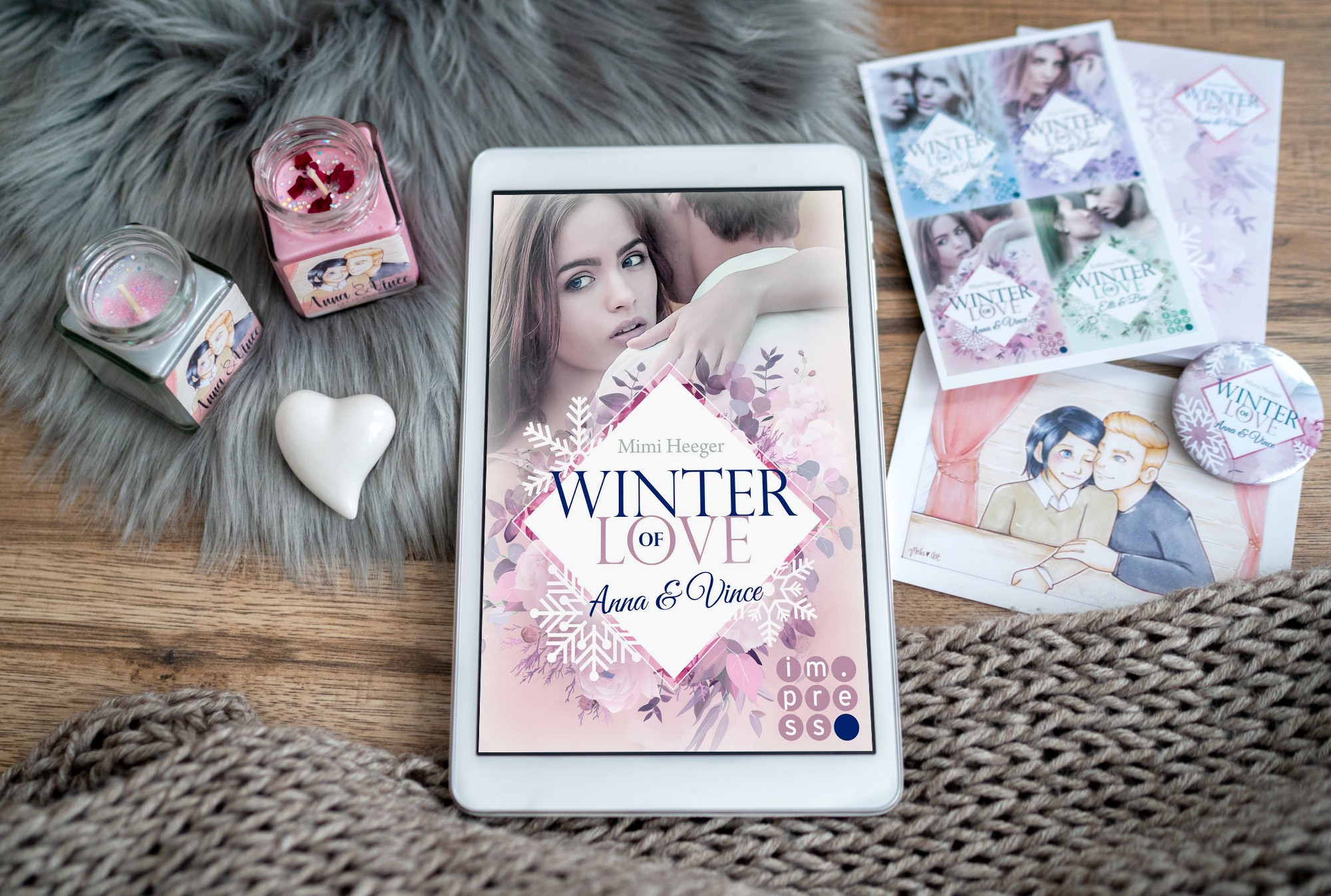 Winter of Love: Anna & Vince – Mimi Heeger graphic